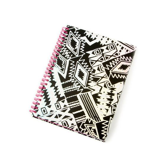 Black and White Holographic Aztec Print Agenda | Claire's ❤ liked on Polyvore featuring home, home decor, black and white home accessories, black and white home decor, aztec home decor and black white home decor