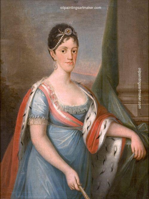 Domingos Sequeira Retrato de D. Carlota Joaquina, Rainha de Portugal - Domingos Sequeira, painting Authorized official website