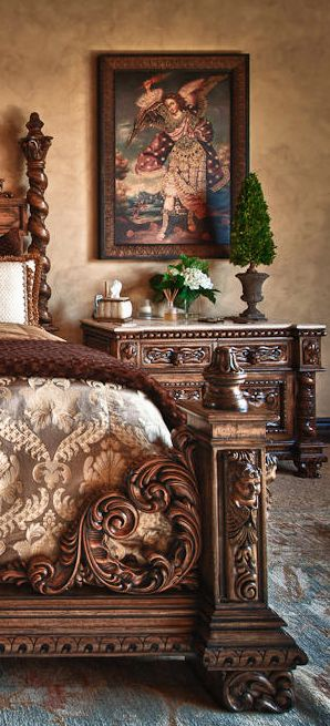 World Bedroom Furniture: Rebecca Justice Collection Old World, Mediterranean