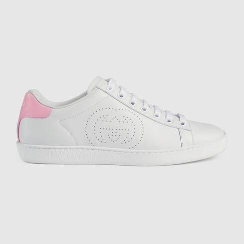 Gucci Women S Ace Sneaker With Interlocking G In 2020 Sneakers Sneakers White White Sneakers
