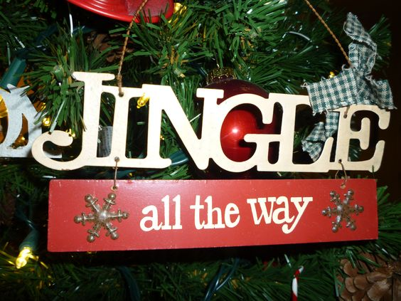 "(20 crafty days of christmas) colorful ""jingle all the way ... 