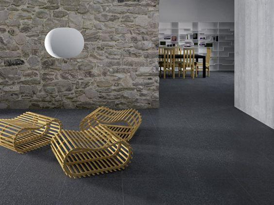 Pavimento/rivestimento in gres porcellanato effetto pietra per interni ed esterni ANDROMEDA MATRIX - GranitiFiandre