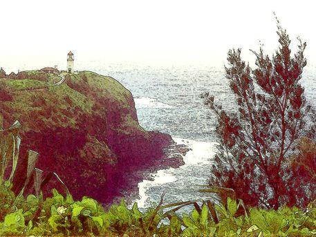 'Leuchtturm Kilauea Point – Kauai Hawaii' von Dirk h. Wendt bei artflakes.com als Poster oder Kunstdruck $18.03