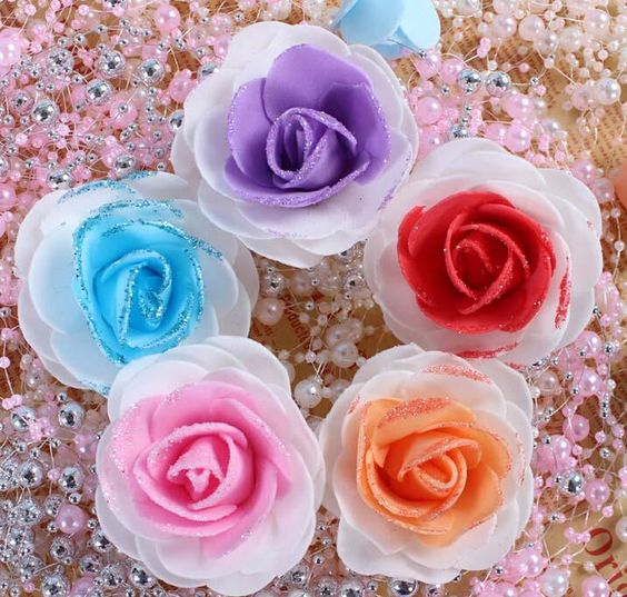 doppel-Farbe pE-Schaum rosen simulation rose candy box dekoration blumen