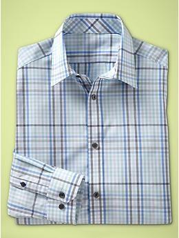 Non-Iron checkered plaid shirt (slim fit) | Gap