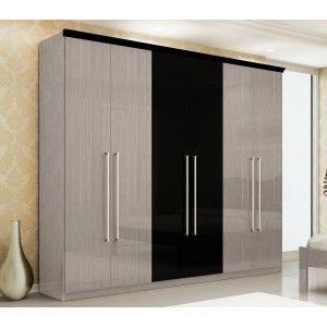 Guarda Roupa Verona 6 Portas - Gelius Móveis -Acabamento exclusivo -3 Gavetões internos -Corrediças metálicas -Espelho Opcional -Puxadores em Alumino R$1.549,90  ou 10x de R$154,99 ou R$1.394,91 no Boleto ou Bankline (10% desconto)