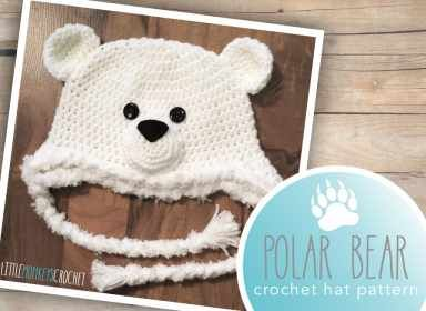Polar Bear Hat Crochet Pattern  |  Little Monkeys Crochet