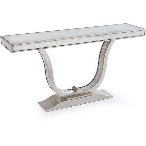 Sleek and bright, this mirrored, slim lined console was virtually made for those narrow hallways and other spaces which need a little more light and shine. With...
