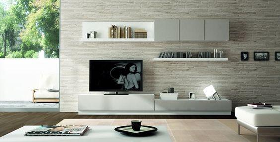 Salones mueble salon acabado en blanco y gris laca ref sal05 mobelinde muebles a medida - Fabrica muebles barcelona ...