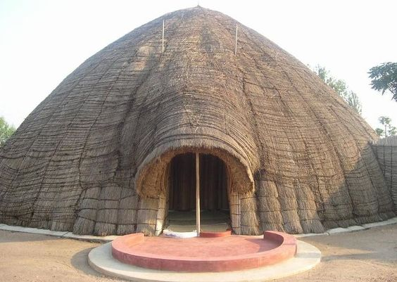 King's Hut in Rwanda Africa.  This is the traditional hut for the King of Rwanda: