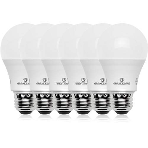Great Eagle 100w Equivalent Led A19 Light Bulb 1600 Lumens Daylight 5000k Dimmable 15 Watt Ul Listed 6 Pack In 2020 Light Bulb Led Light Bulb Bulb