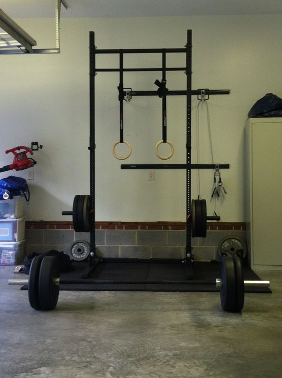 Garage gym and rogues on pinterest