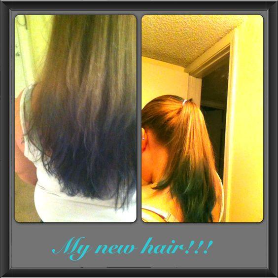 My new blue hair!