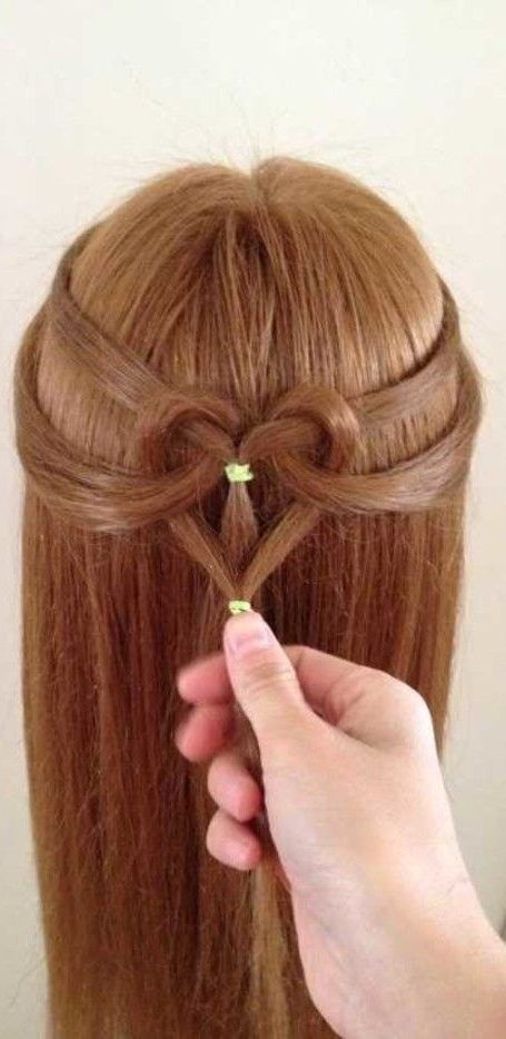 17 Adorable Heart Hairstyles Cute Hairstyles For Kids You Will Love With Hairstyle Cute Hairstyles For Kids Kids Hairstyles Growing Out Short Hair Styles