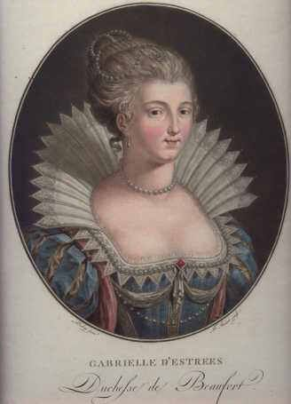 Janinet Jean Francois 1752-1814,Gabrielle d'Estrées Duchesse de Beaufort,