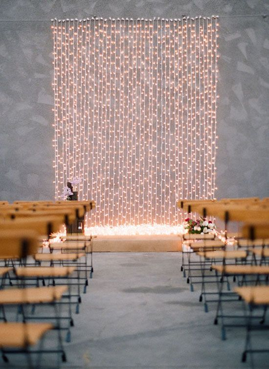 Best String Lights For Weddings : Top 10 Wedding Backdrop Ideas Ceremony backdrop, String lights and Wedding shoes