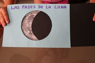 En la web vimos este trabajo tan bonito sobre las fases lunares y nos decidimos a hacerlo.   Ya sabes que las fases lunares son cuatro:  Men...: