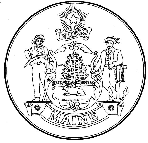State of maine coloring page select an image print and for Massachusetts state seal coloring page