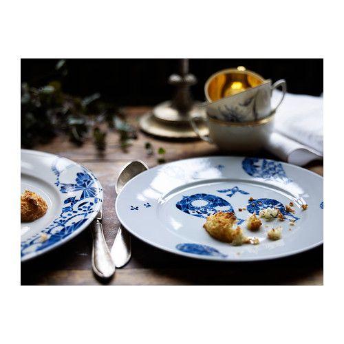 PROMENAD Piatto frutta IKEA Piatti classici con un motivo non convenzionale, che si ispira alle piastrelle dipinte a mano.