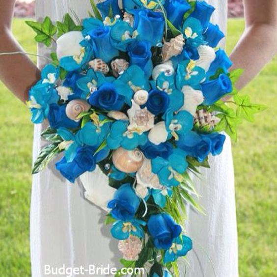 Blue beach bouquet | My September Wedding | Pinterest ...