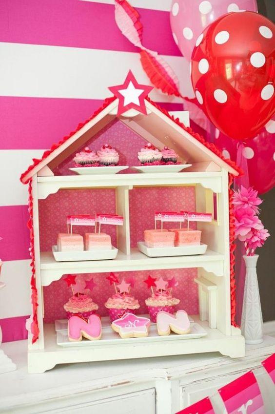 American Girl Doll Birthday Party via Kara's Party Ideas | Kara'sPartyIdeas.com #Pink #Doll #PartyIdeas #Supplies (24)