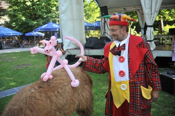 Am zweiter Tag vom Buchenhainer Waldfest am 19. Juli 2014 - #Feiern im #Biergarten in #München Süd war Clown Bobbie zu Besuch