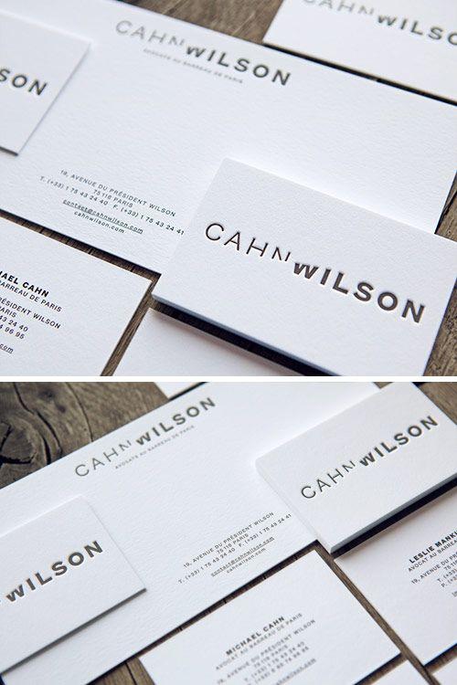 carte de visite paris Cartes de visite et correspondance pour le cabid'avocats Cahn