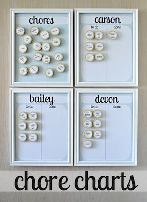 We NEED this!! chore chart, not just for kids. use pictures instead of words for little kids
