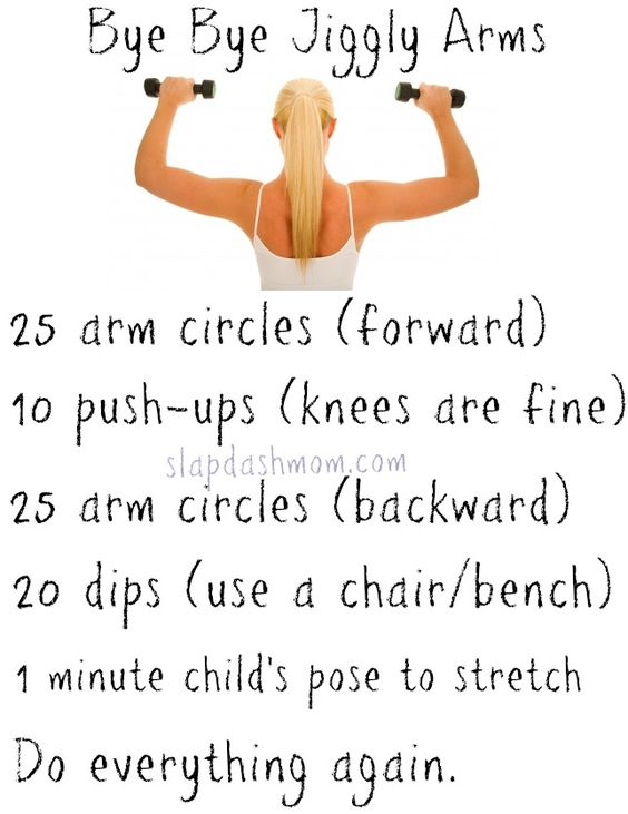 Bye Bye Jiggly Arms Workout --- I despise my arms so I really need to do this.