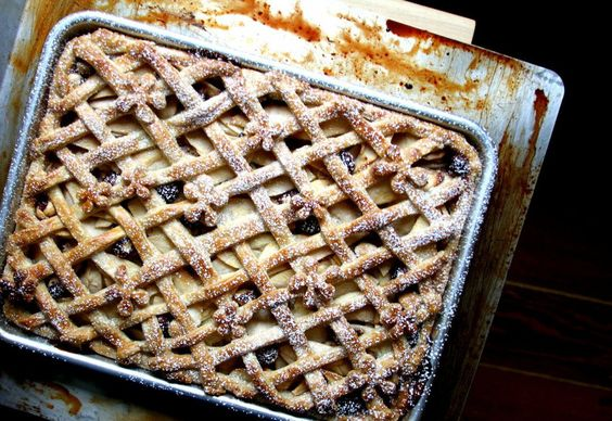Apple Pie With Hazelnuts and Apple Brandy