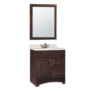 Gallery 30 in.W x 21 in. D Vanity Cabinet with Mirror in Java-GM30-JAV at The Home Depot $380
