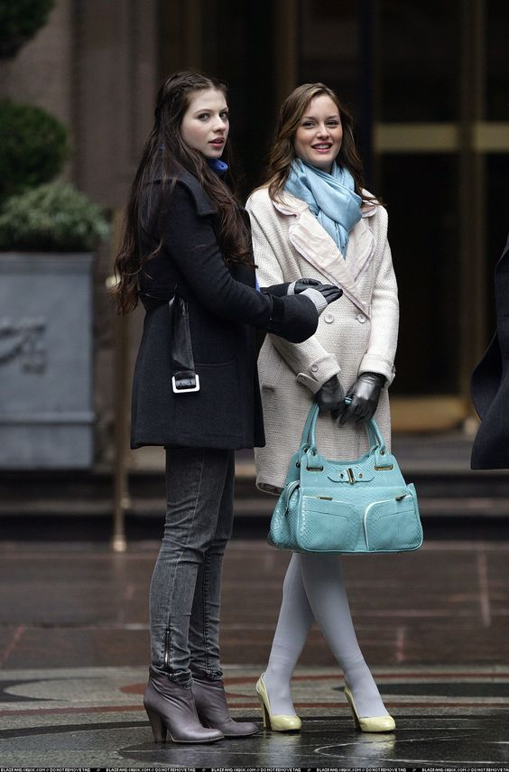 """Georgina Sparks and Blair Waldorf in the episode """"The Wrath of Con""""......."""