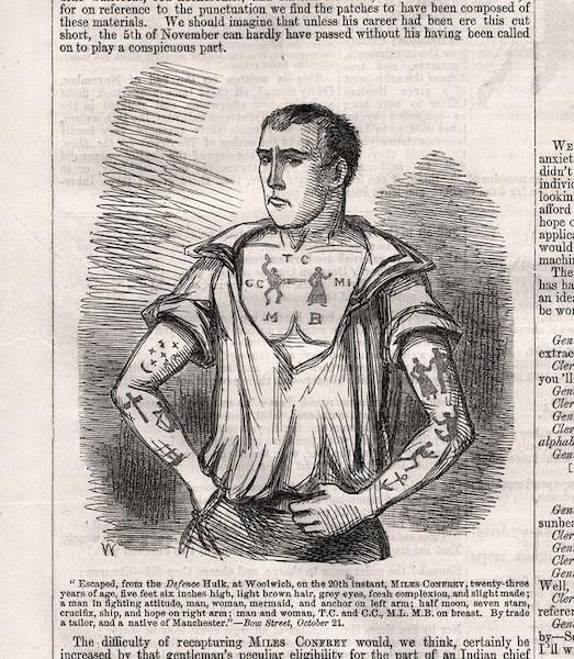 A History of British Convicts Arriving in Australia With Hectic Tattoos