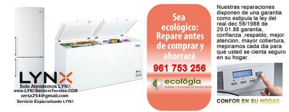 Servicio reparaci n lynx tf 663 476 536 servicio - Reparacion lavavajillas valencia ...