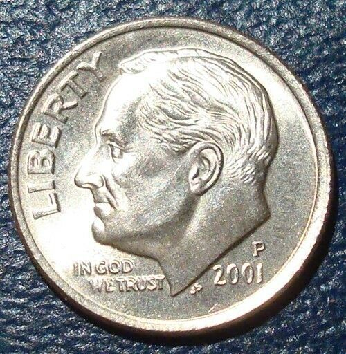 2001-D Uncirculated ROOSEVELT DIME ROLL