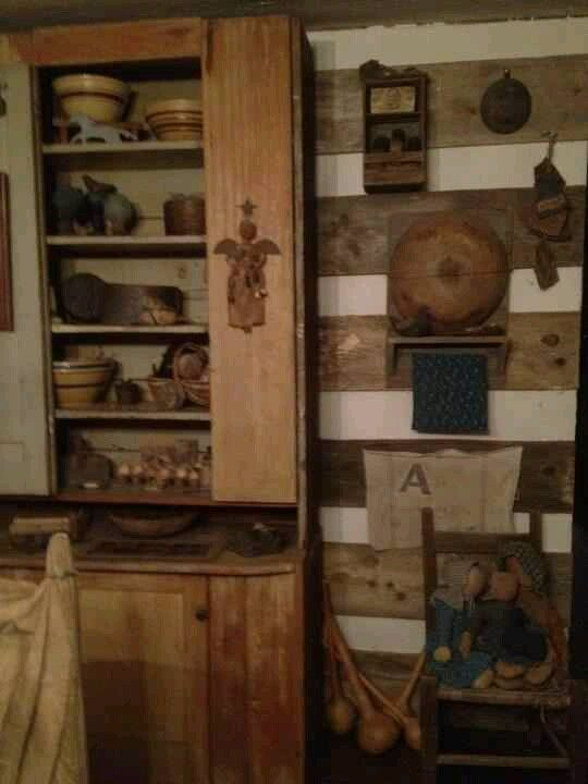 Inside Old Log Cabin Simple Things Love The Little Angel Hanging On Cabinet Door