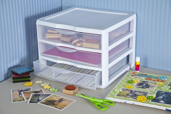 Amazon.com: Sterilite 20938003 Wide 3 Drawer Unit, White Frame with Clear Drawers, 3-Pack: Home & Kitchen