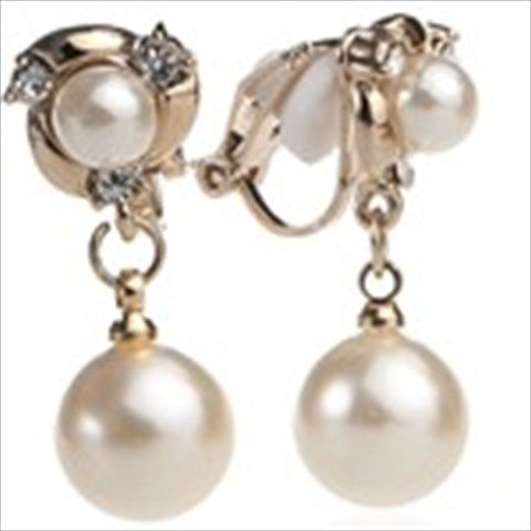 Imitation Pearl Pendant Earrings Earbobs Eardrop Ear Rings Pins Jewelry for Lady Girl $6.16
