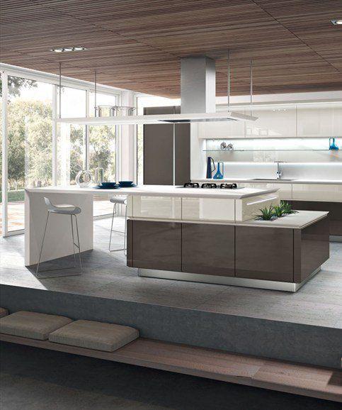 Modern European Kitchen Designs: Kitchenettes, Platform And Kitchens With Islands On Pinterest