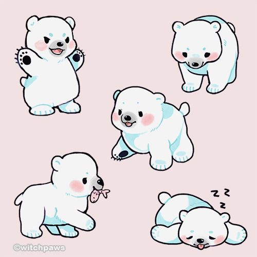 Post Anything From Anywhere Customize Everything And Find And Follow What You Love Crea Polar Bear Drawing Cute Bear Drawings Cute Animal Drawings Kawaii