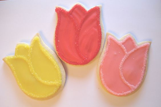 Tulip Cookies | Fancy Cookies | Pinterest | Tulip and Cookies