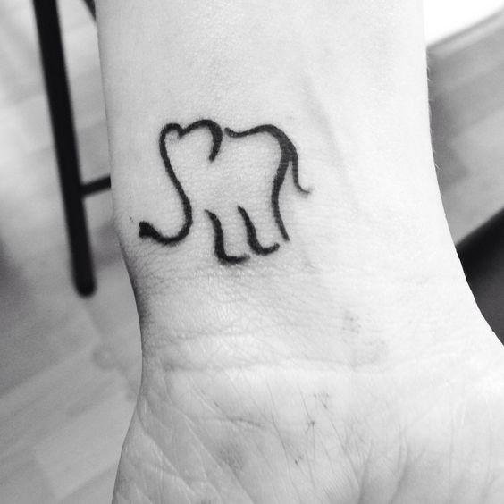 Sweet elephant tattoo