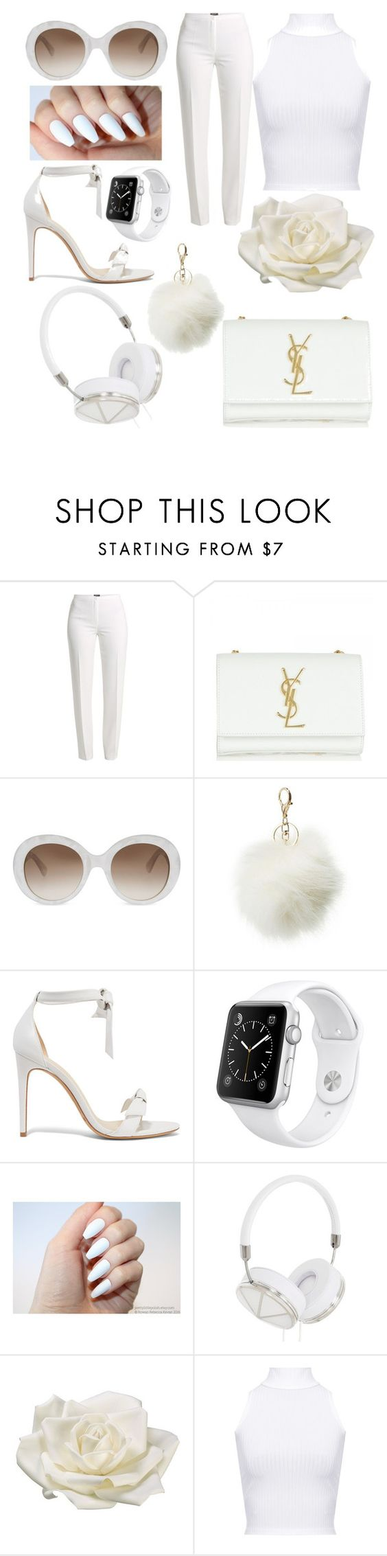 """""""21 baby"""" by ladeej ❤ liked on Polyvore featuring Basler, Yves Saint Laurent, Gucci, Charlotte Russe, Alexandre Birman, Apple, Frends, Allstate Floral and WearAll"""