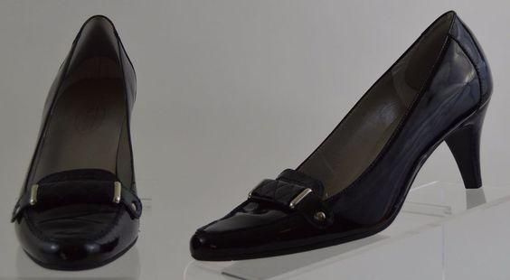 Talbots Black Patent Leather Heels Womens 8.5 Medium  Used #Talbots #PumpsClassics #WeartoWork