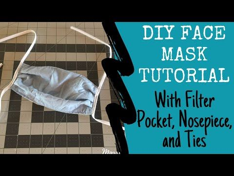 How To Sew A Diy Face Mask With A Filter Pocket Nosepiece And
