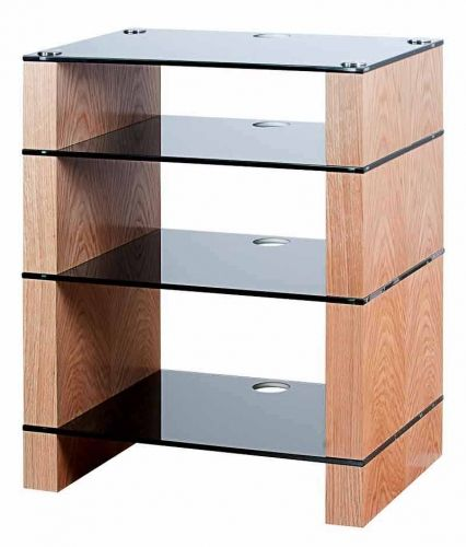 hifi stand four shelf av furniture audio rack blok stax. Black Bedroom Furniture Sets. Home Design Ideas