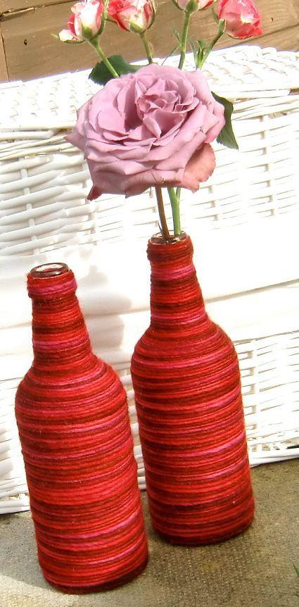 Ideas para decorar con botellas de vidrio manualidades for Ideas para decorar botellas