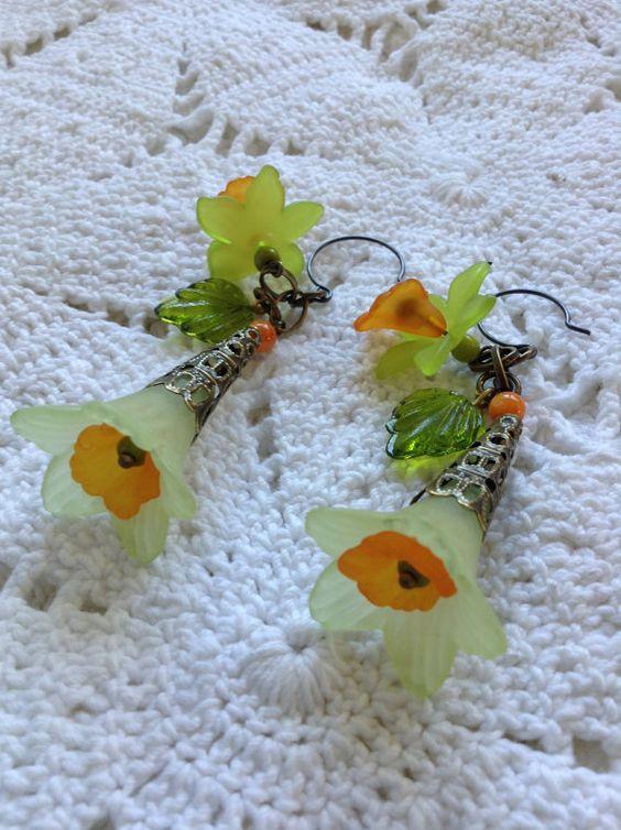 Colors of Sherbet Earrings by AliaBella on Etsy