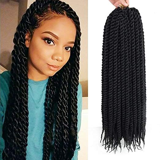 Dingxiu 6 Packs 22 Inch Havana Mambo Twist Crochet Hair Braids