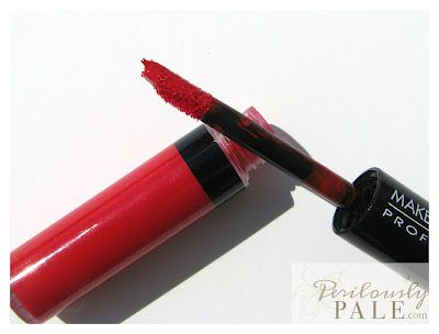 My Favourite Red Lip ~ Makeup Wars ~ Make Up For Ever Aqua Lip in #8 Swatches, Photos, Review |Perilously Pale